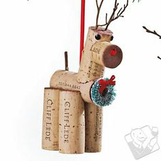 Dasher Cork Critter Reindeer Ornament at Wine Enthusiast - $19.95