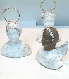 ShopCurious - Fabienne Auzolle - Angel bust - ceramic sculpture