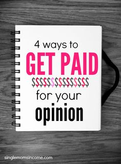 Want to earn money by giving your opinion? Here are four unique ways to do it along with quite a few companies who pay.