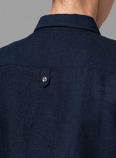 Detail on a linen shirt