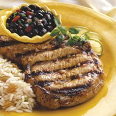 BBQ GRILLING #BBQ #Grilling Pork Chops with Mango-Miso Marinade