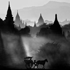 The Bagan Archaeological Zone in Burma (Myanmar) Beautiful World, Beautiful Places, Beautiful Pictures, Places To Travel, Places To See, Bagan, Black And White Photography, Old Photos, In This World