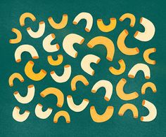 Mac and Cheese on Behance  #illustration #pattern