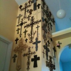 I am going to put a cross wall on entry way wall with Carty in the middle