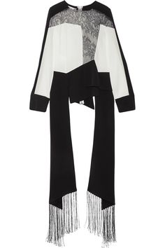 Shop on-sale Antonio Berardi Fringed Chantilly lace-paneled crepe top. Browse other discount designer Tops & more on The Most Fashionable Fashion Outlet, THE OUTNET.COM