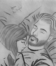 #pic #picture #boy #girl #couple #inbed #sleeping#love #hug #snuggle #man #beard #hair #drawing #pencil #pencildrawing #skatch #byme