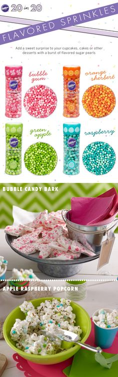 Flavored Sprinkles to add a sweet surprise to your treats!