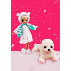 winter doll christmas print aceo size SEAL LATER by boopsiedaisy