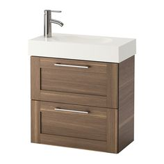 IKEA BRÅVIKEN/GODMORGON Wash-stand with 2 drawers Walnut effect 60x33x68 cm 10 year guarantee. Read about the terms in the guarantee brochure.