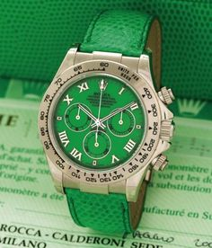 Full details and images of the Rolex Daytona Beach 116519 Green Beach Green) Cool Watches, Rolex Watches, Rolex Daytona Watch, Skeleton Watches, Expensive Watches, Hand Watch, Leather Watch Bands, Luxury Watches For Men, Fashion Bracelets