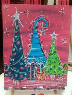 Funky Christmas Trees. $35.00, via Etsy.