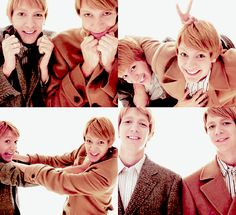 The Phelps twins ( AKA Fred and George)...... Yes, they're just plain nice, funny, and adorable!