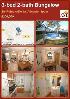 3-bed 2-bath Bungalow in Els Poblets-Denia, Alicante, Spain ►€200,000 #PropertyForSaleInSpain