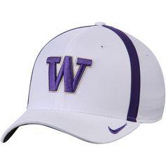 wholesale dealer a3416 687ad Men s Nike White Washington Huskies 2017 AeroBill Sideline Swoosh Coaches  Performance Flex Hat