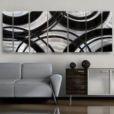 """""""Crossroads"""" Modern Metal Wall Sculpture, Contemporary Home Decor $325"""