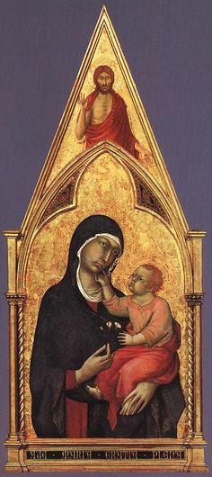 ❤ - SIMONE MARTINI (1285 -1344) - Boston Polyptych, detail - 1321 - 25. Isabella Stewart Gardner Museum, Boston.