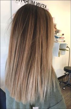Brown Hair With Blonde Highlights, Blonde Hair Looks, Brown Hair Balayage, Ash Blonde, Blonde Pink, Brown To Blonde Ombre Hair, Balayage Straight Hair, Color Highlights, Black Roots Blonde Hair