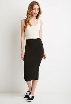 Bodycon Midi Skirt | Forever 21 - I want itttt