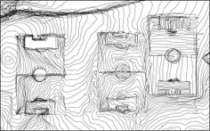 15. GPS drawing | Hugh Pryor. This was created by walking around a football pitch in a spiral pattern with a GPS receiver and changing the direction of the walk when I crossed a line in the field, thus marking out the boundaries. This image is discussed in our eBook 'GPS drawing with your mobile phone' helping you into art college. www.portfolio-oomph.com/drawing/the-big-draw