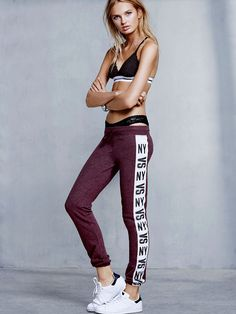 Supersoft, cozy fleece with a feminine fit? Now we're talking. | Victoria's Secret Skinny Pant
