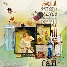 """fall"" by Amber, as seen in the Club CK Idea Galleries. #scrapbook #scrapbooking #creatingkeepsakes"