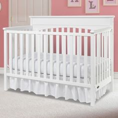 Graco Lauren 4 in 1 Convertible Crib in White - Click to enlarge