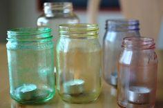 painted jars by i believe in love, via Flickr