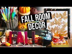 DIY Fall Room Decor, Organization & Decorating Ideas !   LaurDIY - YouTube