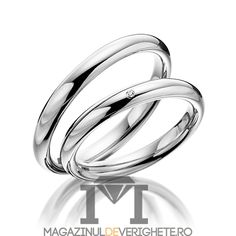 verighete MDV02white #verighete #verighete3mm #verigheteaur #verigheteauraalb #magazinuldeverighete Aur, 50 Euro, Wedding Rings, Engagement Rings, Vintage, Jewelry, Crystal, Diamond, Enagement Rings