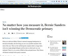 """Dear WaPo: Bernie has already won several primaries. Perhaps the word you were looking for is """"nomination."""""""