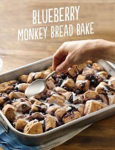 Blueberry Monkey Bread adds one of your favorite fruits to this breakfast bake. Don't forget to drizzle with icing!