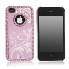 Deluxe Baby Pink Chrome Bling Crystal Rhinestone Hard Case Skin Cover for Apple iPhone 4 4S 4G With Free 2pcs Screen Protector and Pink Stylus Pandamimi,http://www.amazon.com/dp/B0084CYG7E/ref=cm_sw_r_pi_dp_j9jmtb0NY1KAHVSM