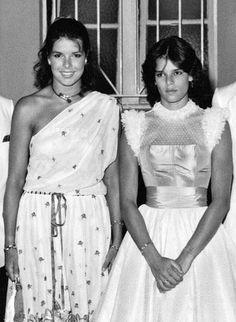 Princess Caroline and Princess Stephanie of Monaco. Love this picture for Princess Caroline and her sister Princess Stephanie.