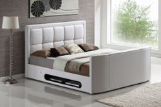 Azure TV Bed - 5ft King Size + Free Delivery & Installation
