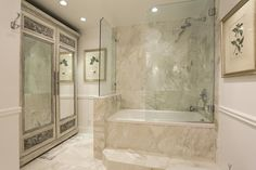 Master when not enough room for a separate tub and shower