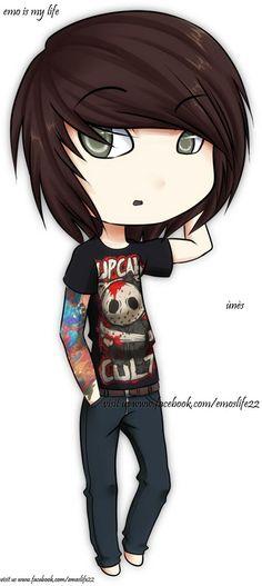 Personajes de dibujos animados Sexy punk rock