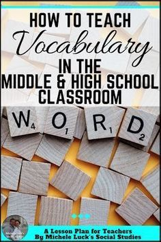 I love different ideas for teaching vocabulary in the middle or high school classroom. All teachers will love the 3rd suggestion!