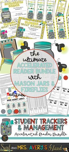 When it comes to reading, does your school district use Accelerated Reader? If so, I invite you to click the link to check out these helpful management ideas, AR student trackers, incentives, organizational tools, editable bulletin board printables, and so many other ideas to help keep your students on track during the school year.