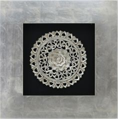 Silver Petal 3D Wall Art