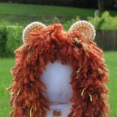 How cute is this Lion's Mane Crochet Wig Hat by TheWhimsicalStudio on Etsy, $24.99