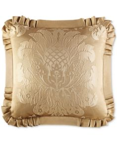 "J Queen New York Concord Gold 20"" Square Decorative Pillow - Gold"