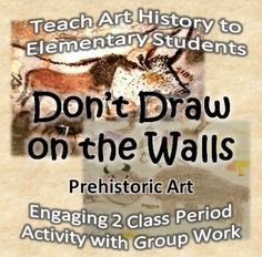 Often times, children are told not to draw on the walls, yet some artists in the past did! The Lascaux Cave is home to very famous prehistoric pain. World History Lessons, Art History, Cave Drawings, Drawing Lessons, Drawing Drawing, 3rd Grade Art, Cool Art Projects, Learn Art, Teaching Art