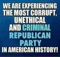 GOP leaving a disaster for a legacy! Hate to be their relatives!!