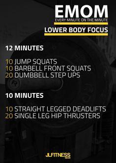 Workout Without a Gym – Leg Training Exercises Crossfit Legs, Crossfit Leg Workout, Emom Workout, Leg Workout At Home, Running Workouts, At Home Workouts, Leg Training, Strength Training, Getting Back In Shape