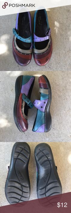 Clarks Jill Stern Mary Janes Colorful Mary-James from clarks and Jill Stern. Size 7.5 Clarks Shoes Flats & Loafers