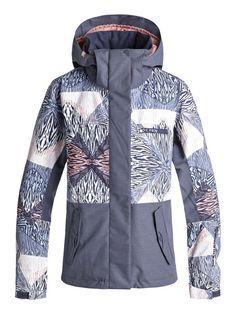 f52acb966a roxy, ROXY Jetty Block Snow Jacket, POWDER BLUE_ANIMAL GEO (bgb2) #snowboard