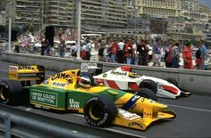 Michael Schumacher & Michele Alboreto ~ 1992 Monaco Grand Prix