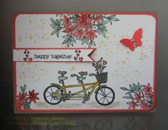 Stampin' Sacha: In de spotlight: Pedal Pusher + Awesomely Artistic Dies By Dave, Bicycle Cards, Tri Fold Cards, Pedal Pushers, Wedding Anniversary Cards, Stamping Up Cards, Greeting Cards Handmade, Cardmaking, Birthday Cards