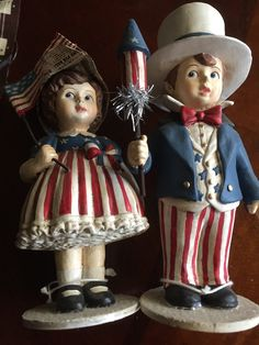 got these 4th Fourth July figurines in antique shop papier mache?