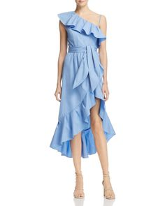 Sandro Lover Ruffled One-Shoulder Dress